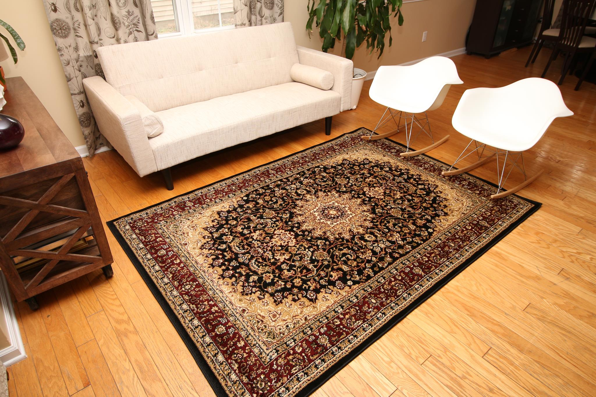 home today shipping tufted garden area foot free rugs overstock round contemporary floral rug hand product