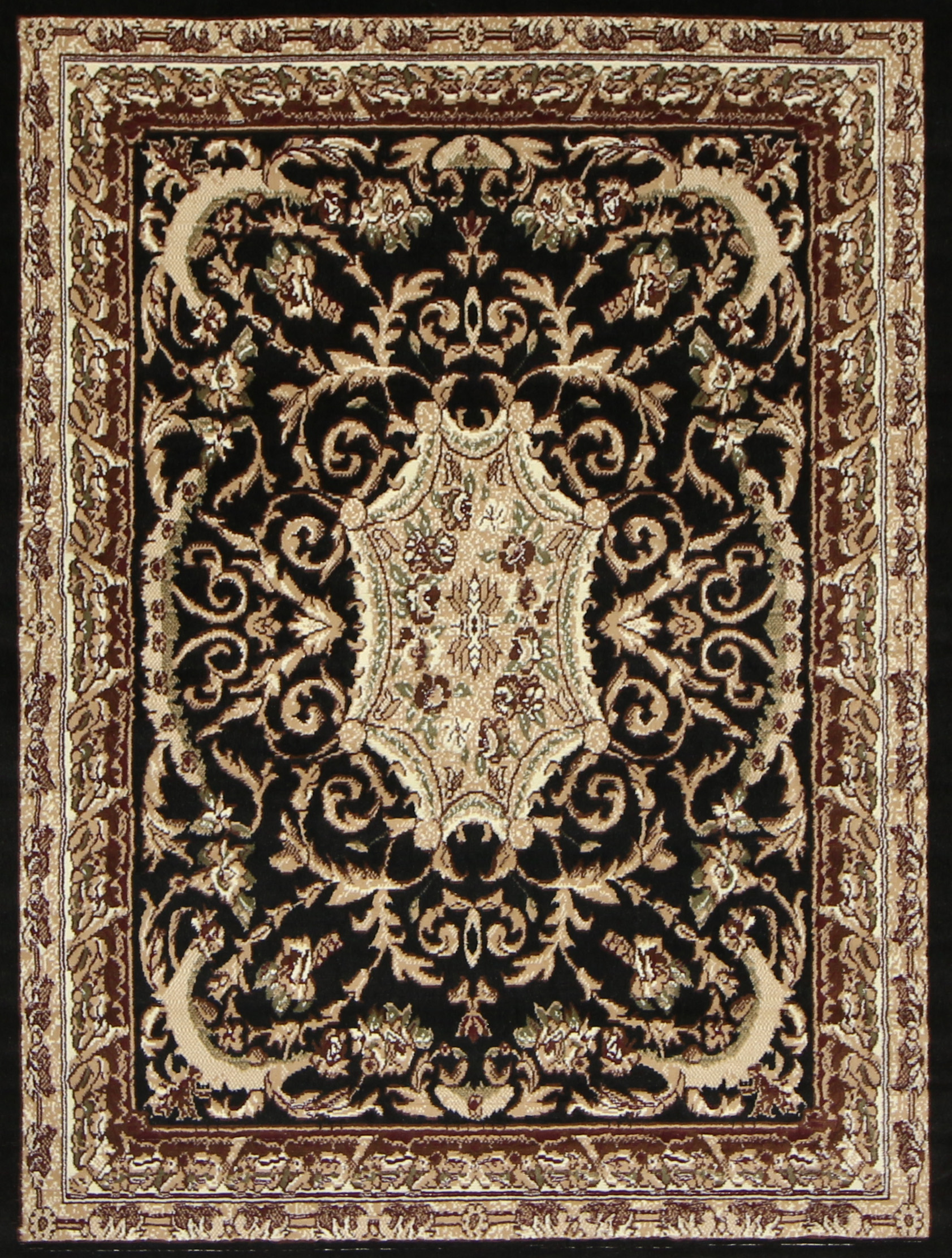 area black rugs classic elegant home square carpet with bined royalty decorations unbeatable large floor photos wool of gold pattern rug floral yellow improvement borders and new most